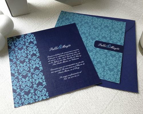 Invitación azul textura