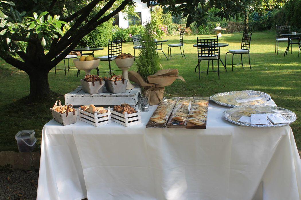 Hotel Casona el Arral Detalle mesas catering.