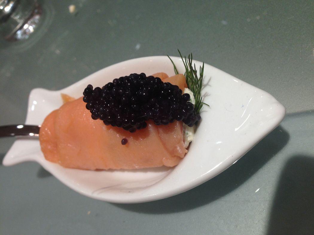 Rollito de salmon ahumado