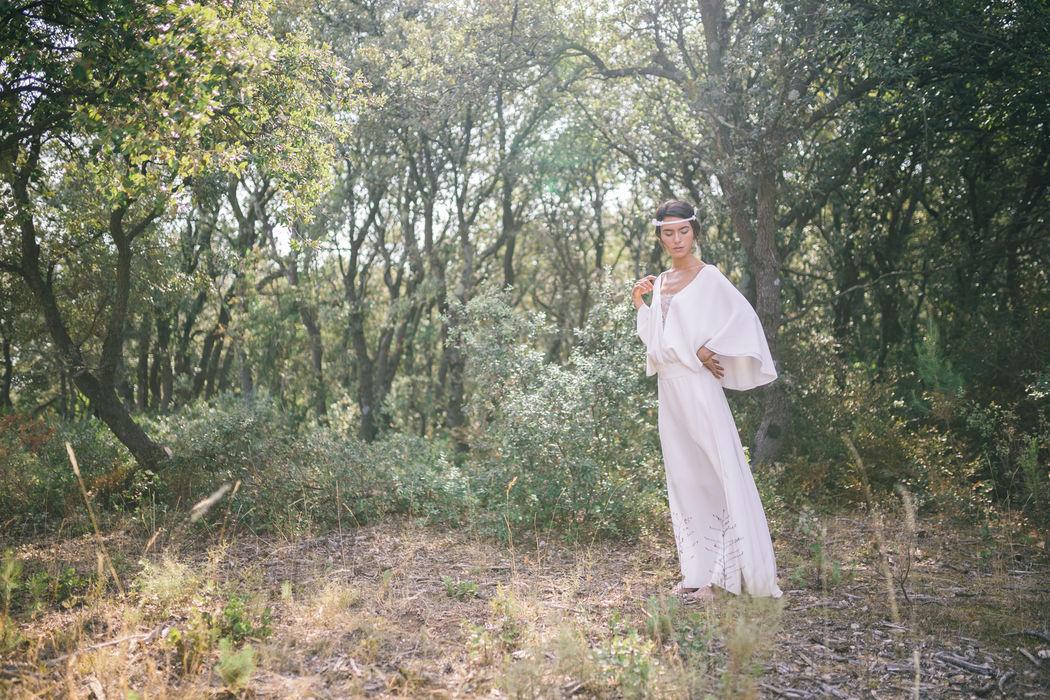 Robe de mariée en soie : Ambre