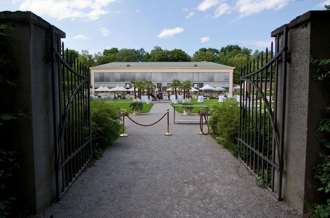 Beispiel: Garten, Foto: Schlosscafé im Palmenhaus.