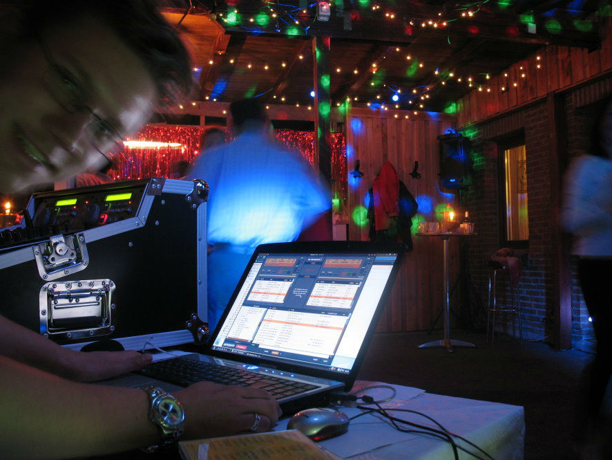 Beispiel: Ton- und Lichtanlage, Foto: DJ Lars.