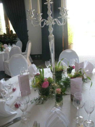 Beispiel: Blumen für das Bankett, Foto: Blatt+Form.