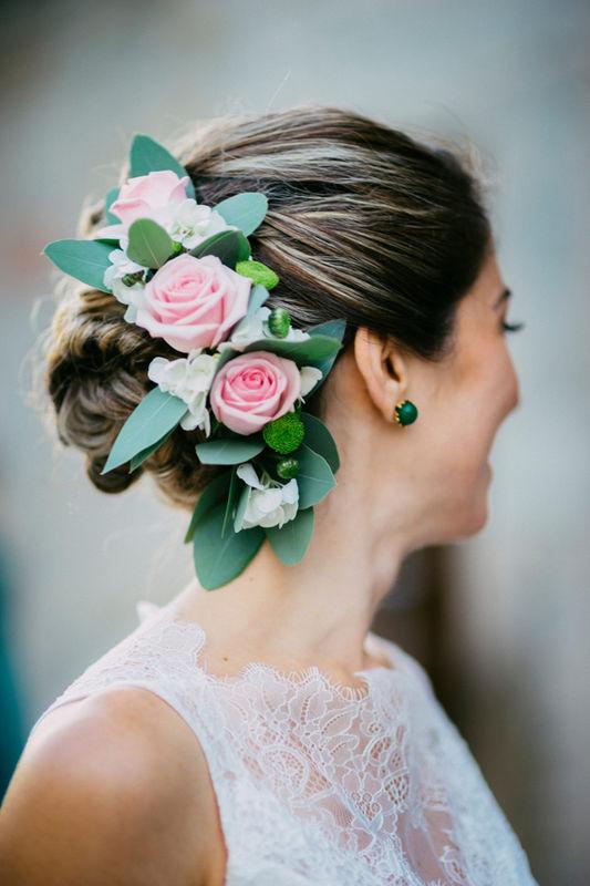 Acessório para cabelo de flores naturais