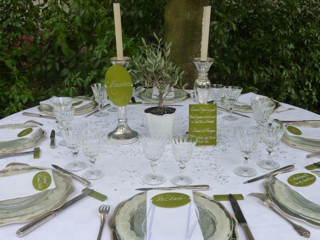 Menu,nom table,marques-place Plexiglas calligraphiés 15cm/10cm, 10cm/5cm
