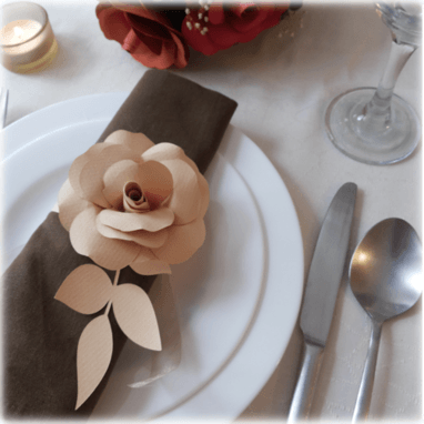 Detalle del Servilletero Rose