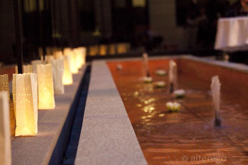 Terraza adjunto al salón de banquetes