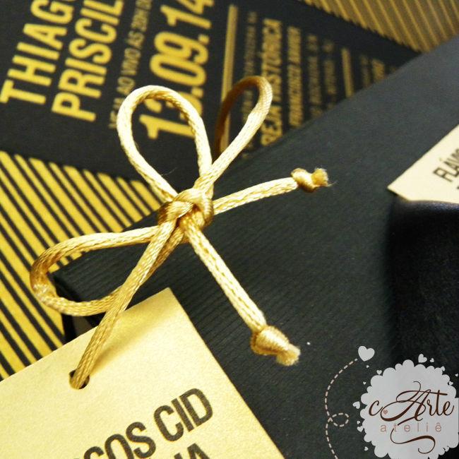 Coleção Gold - Convite Padrinhos e Convidados