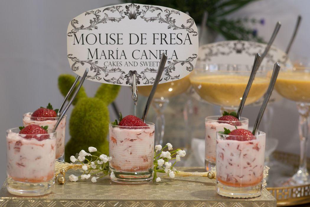 Mouse de Fresa... un toque delicioso en tu mesa de postres