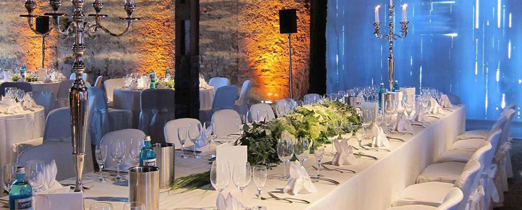 Beispiel: Elegante Hochzeitsdekoration, Foto: Gutshof Ladenburg.