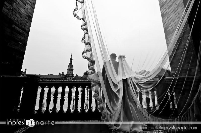 Studio Impresionarte Fotógrafos de Boda · Sevilla · Plaza de España