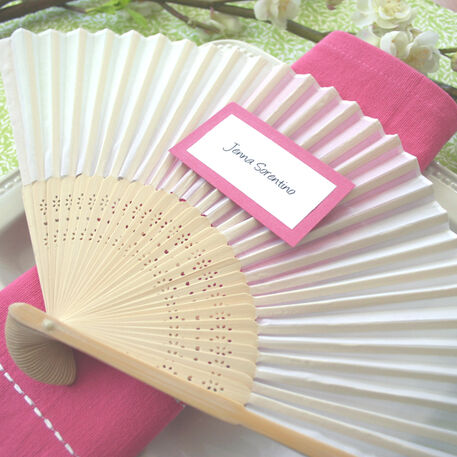Abanicos de bambú y seda