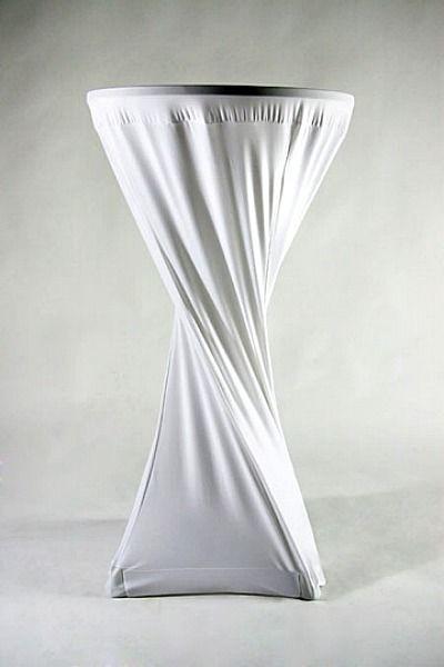 Beispiel: Stehtischhusse, Foto: Hochzeitsvermietung - Stuhlhussen Deutschland.