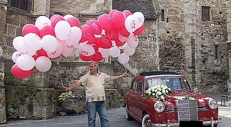 Beispiel: Ballondekoration, Foto: Krickl Ballons.