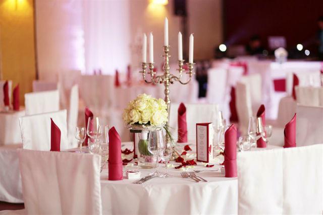 Beispiel: Bankett - Tischdekoration, Foto: Vineria Nürnberg.