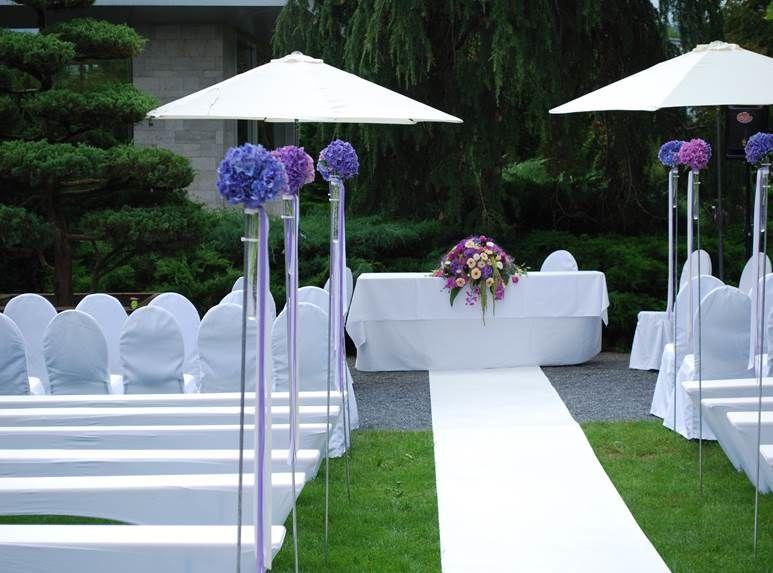 Beispiel: Hochzeitsfloristik, Foto: Blumen Goldmann.