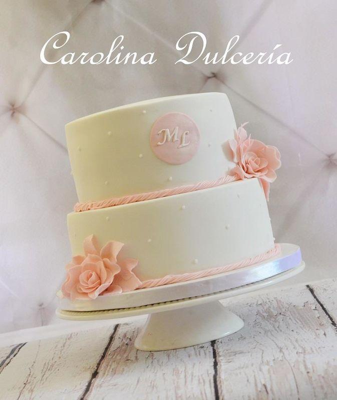 Torta sello y flores