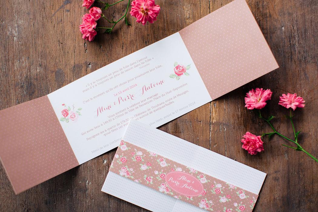 Faire-part classique Mariage L'Atelier d'Elsa Le Véritable Faire-part Sur Mesure