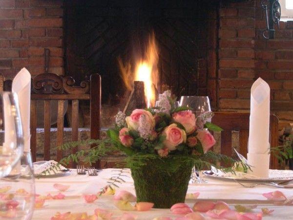 Beispiel: Florale Tischdekoration, Foto: Antik-Hof Bissee.