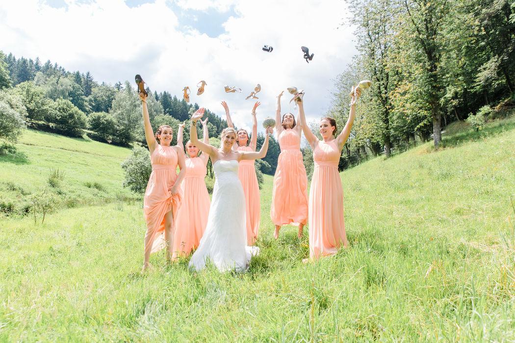 Shooting mit den Brautjungfern