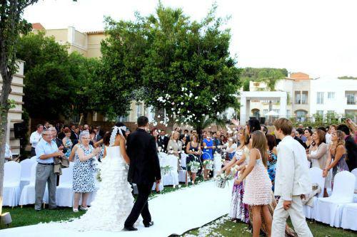 Detalles novios tras la ceremonia