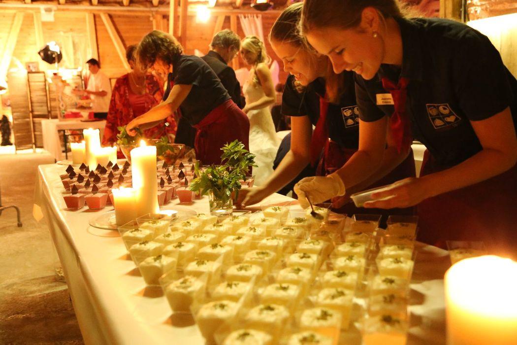 Hochzeitsfest in Fribourg - Dessertbuffet