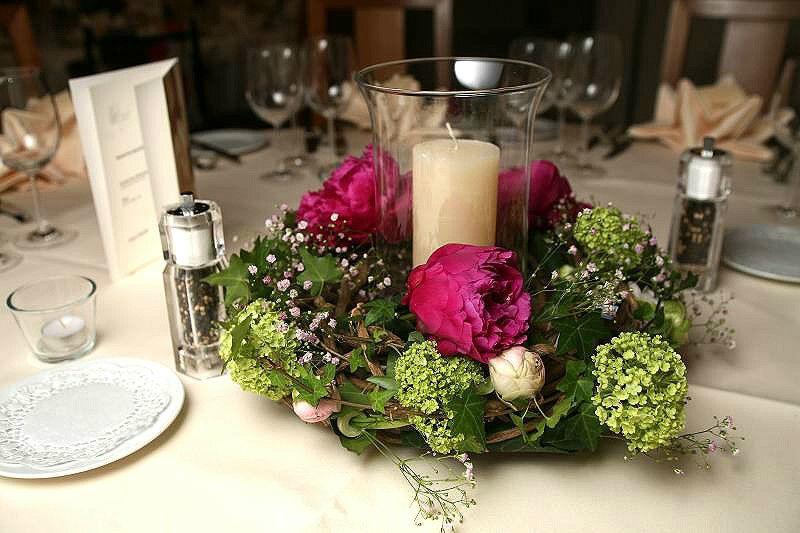 Beispiel: Hochzeitsdekoration, Foto: Edelkraut Event-Floristik.