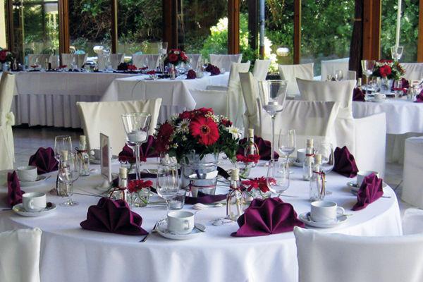 Beispiel: Festliche Tischdekoration, Foto: Hotel Bock.