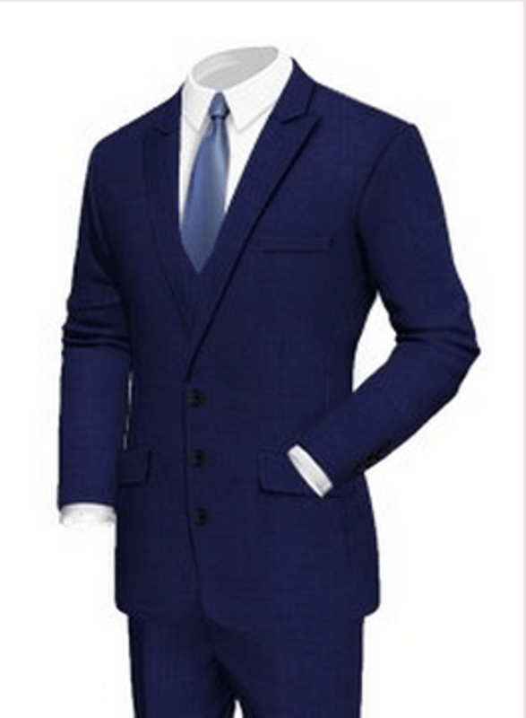 Beispiel: Hochzeitsanzug blau, Foto: Poshodorosuits.