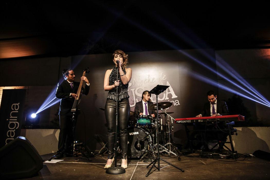 Cuarteto jazz vintage en lanzamiento inmobiliaria Imagina