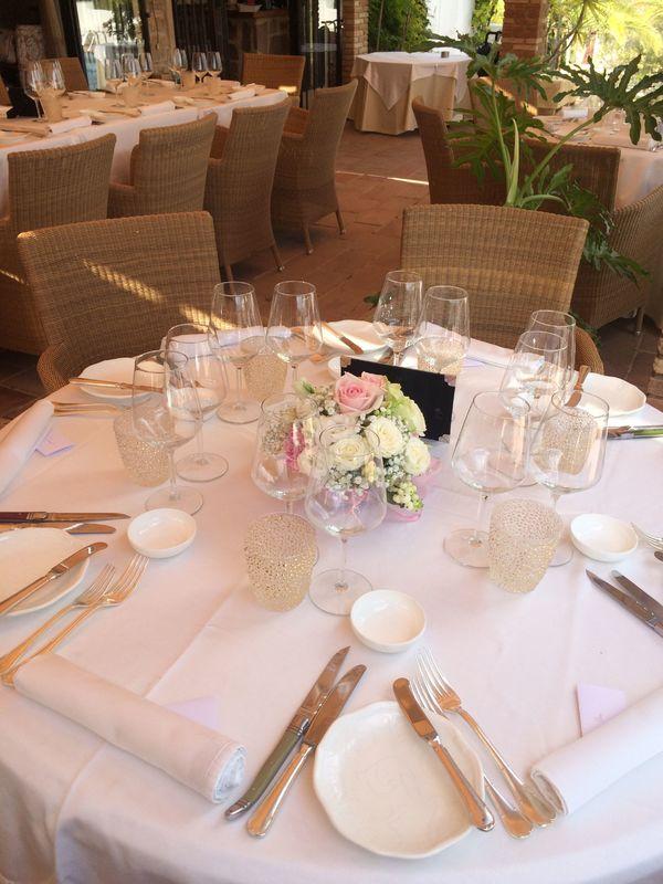 Mesa con atmósfera romántica
