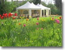 Beispiel: Hochzeitspavillon im Garten, Foto: Schloss Ratzenhofen.