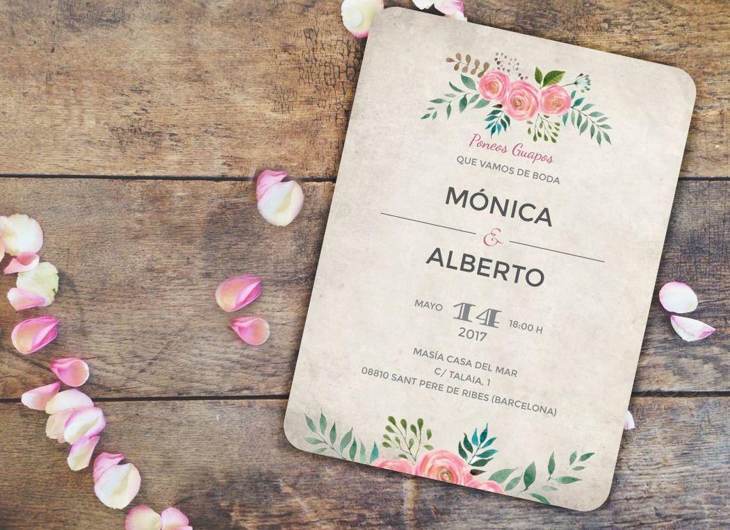 Invitación Serena, colección Caprichosa