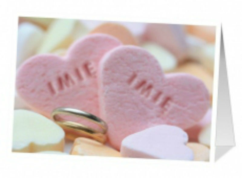 Kartka ślubna pełna miłości