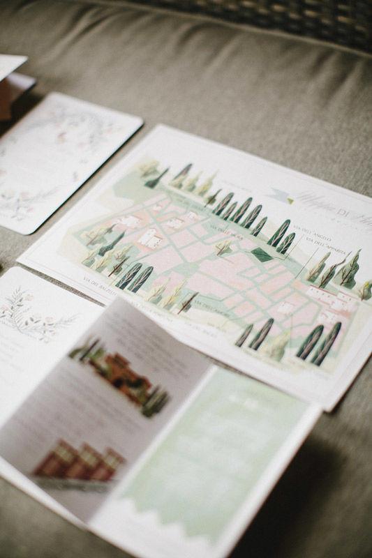 Mappa: Illustrazione della mappa di Pienza - foto di Les Amis Photo