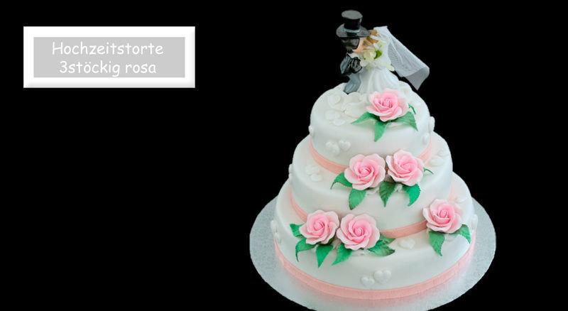 Beispiel: Persönliche Hochzeitstorten, Foto: Partytorten.ch.