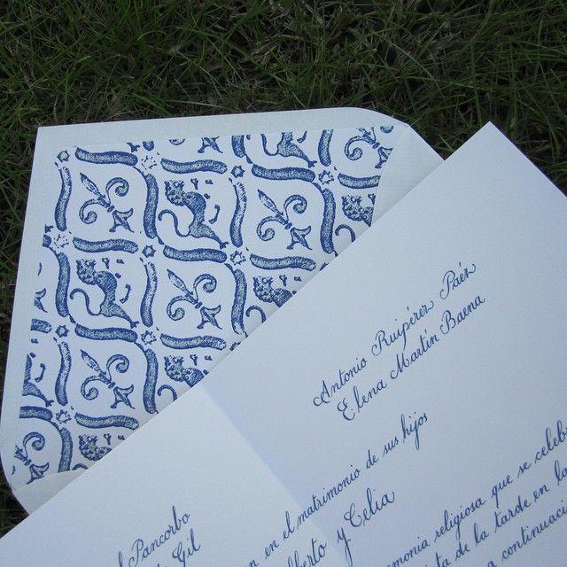 Invitación caligrafía inglesa