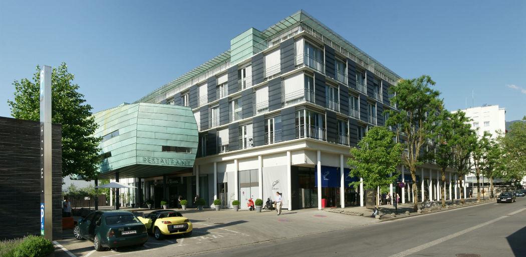 Beispiel: Außenansicht, Foto: Martinspark Hotel Dornbirn.