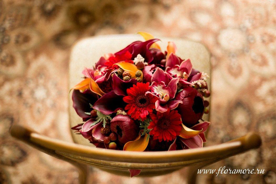Флорист Кристина Каберне. Осенний букет невесты.