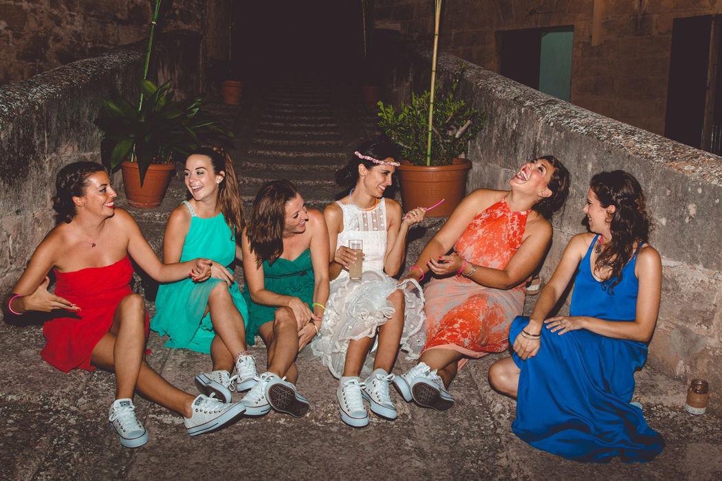 damas de honor zapatillas converse