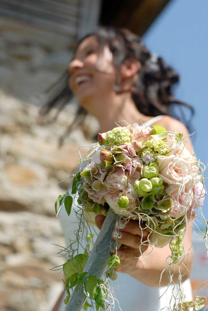Beispiel: Hochzeitsstrauß, Foto: Blumen Malecek.