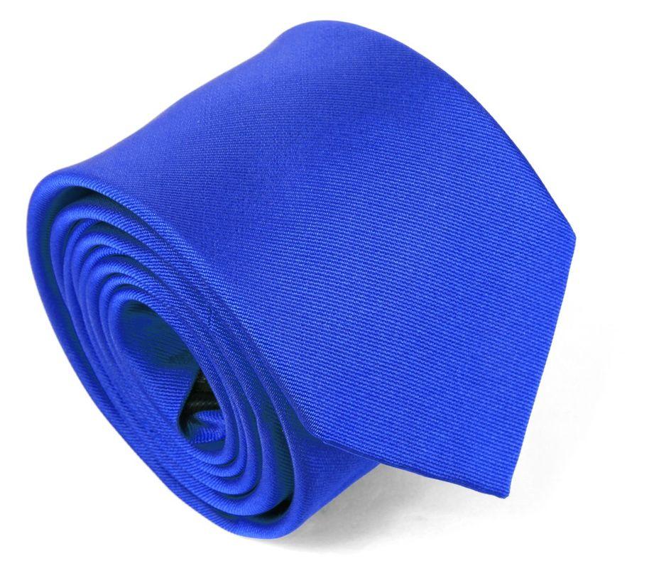 Cravate en soie bleu majorelle - Maison de la Cravate