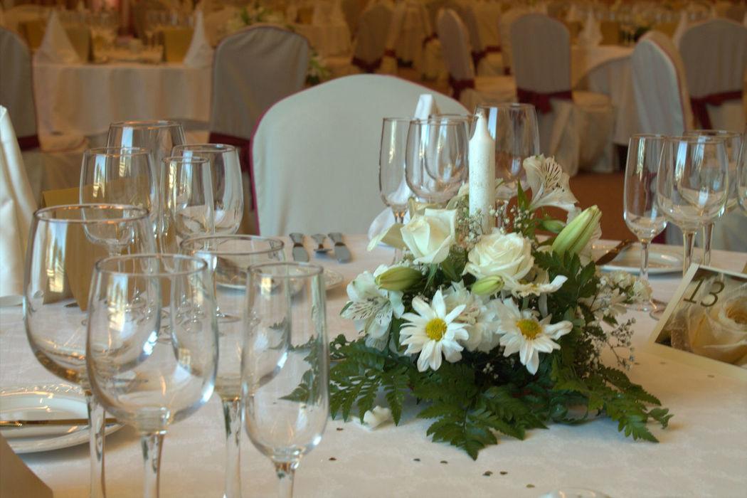 Detalle floral mesa
