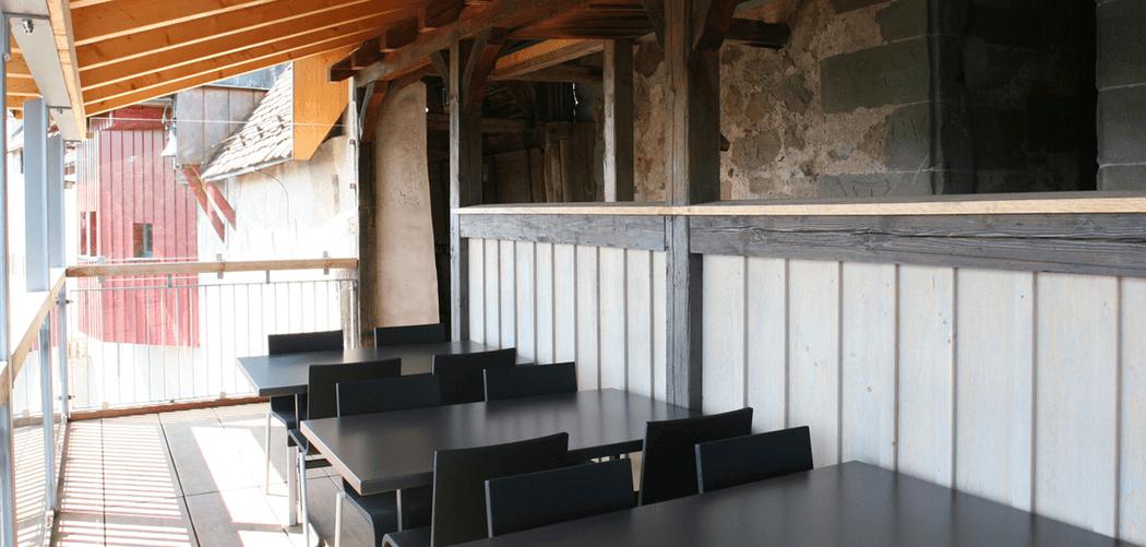 Beispiel: Laube, Foto: Burg Hohenklingen.