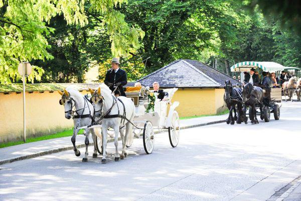 Beispiel: Hochzeitskutsche, Foto: Hochzeitsorganisation Barbara Donabauer.