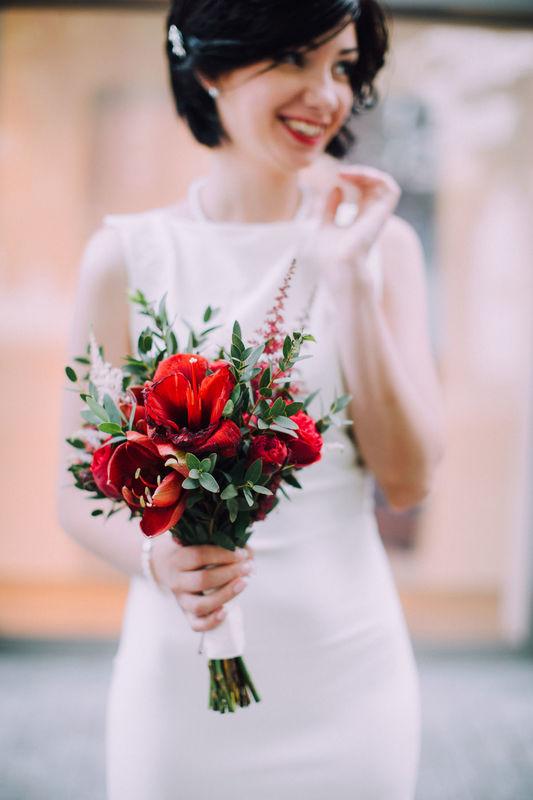Букет невесты  Свадьба Marsala