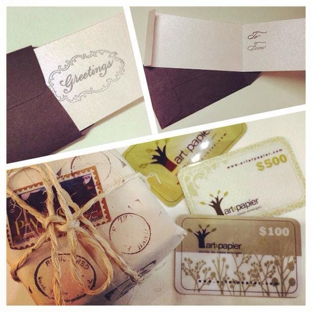 Tarjetas de regalo y agradeciemiento