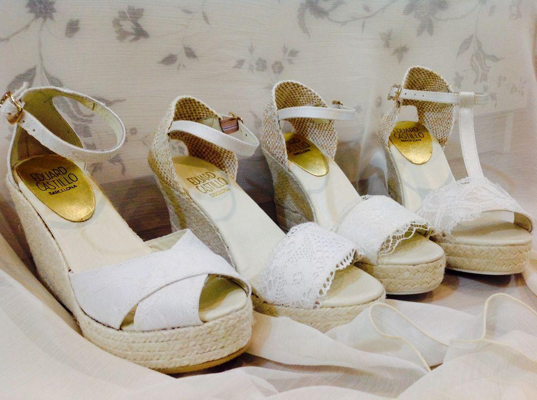 alpargatas de novia online de Eduard Castillo Barcelona. Showroom Espai Nuvia