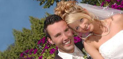 Beispiel: Hochzeitspaar, Foto: Schlosshotel Ralswiek.