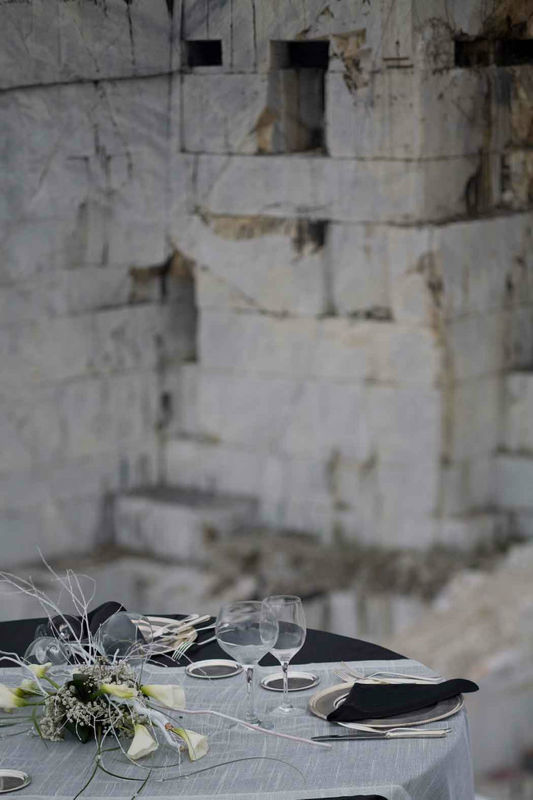 B. & G. Catering Banqueting, cave marmo Carrara